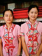 Shop girls at Satri Lao silk.