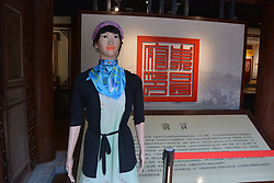 June 15, 2017 - Liaocheng, Liaocheng, China - Liaocheng, CHINA-June 15 2017: (EDITORIAL USE ONLY. CHINA OUT)..A robot guide can be seen at a museum in Liaocheng, east China's Shandong Province, June 15th, 2017. (Credit Image: © SIPA Asia via ZUMA Wire)