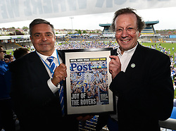 Nick Higgs and George Ferguson presentation - Photo mandatory by-line: Dougie Allward/JMP - Mobile: 07966 386802 - 25/05/2015 - SPORT - Football - Bristol - Bristol Rovers Bus Tour
