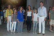 080118 Spanish Royals attends Ara Malikian Concert in Porto Adriano, Mallorca