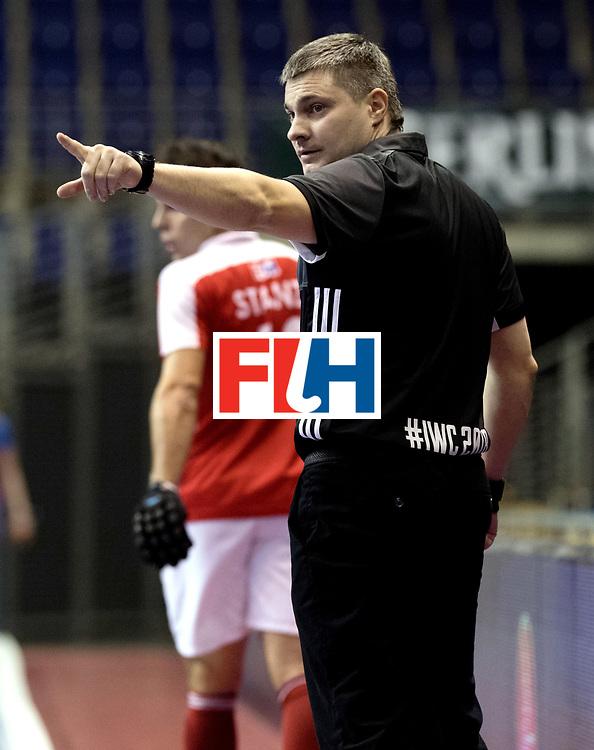 BERLIN - Indoor Hockey World Cup<br /> Men: Austria - South Africa<br /> foto: HRACHOU Aliaksandr.<br /> WORLDSPORTPICS COPYRIGHT FRANK UIJLENBROEK