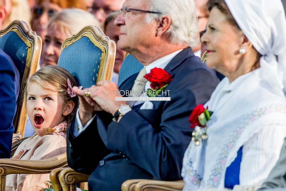 14-7-2017 BORGHOLM - Crown Princess Victoria's birthday<br />  Attendance at Victoria Day during the concert at Borgholm celebrations of Crown Princess Victoria's 40th birthday, Borgholm, Sweden 14 July 2017. <br /> The King Carl Gustav , The Queen Sofia , The Crown Princess Victoria , Prince Daniel, Prince Carl Philip, Princess Sofia, Princess Madeleine, Christopher O'Neill  princess Estelle COPYRIGHT ROBIN UTRECHT <br /> <br /> 14-7-2017 BORGHOLM - Kroonprinses 40 ste Victoria's verjaardag<br /> &nbsp; Bijwonen bij Victoria Day tijdens het concert op Borgholm viering van de 40ste verjaardag van de prinses Victoria, Borgholm, Zweden 14 juli 2017.<br /> De Koning Carl Gustav, De Koningin Sofia, De Kroonprinses Victoria, Prins Daniel, Prins Carl Philip, Prinses Sofia, Prinses Madeleine, Christopher O'Neill Prinses Estelle COPYRIGHT ROBIN UTRECHT