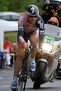 FRANCE 21st JULY 2007: Predictor Lotto's Cadel Evans during stage 13 of the Tour de France cycle race. This stage was a time trial.