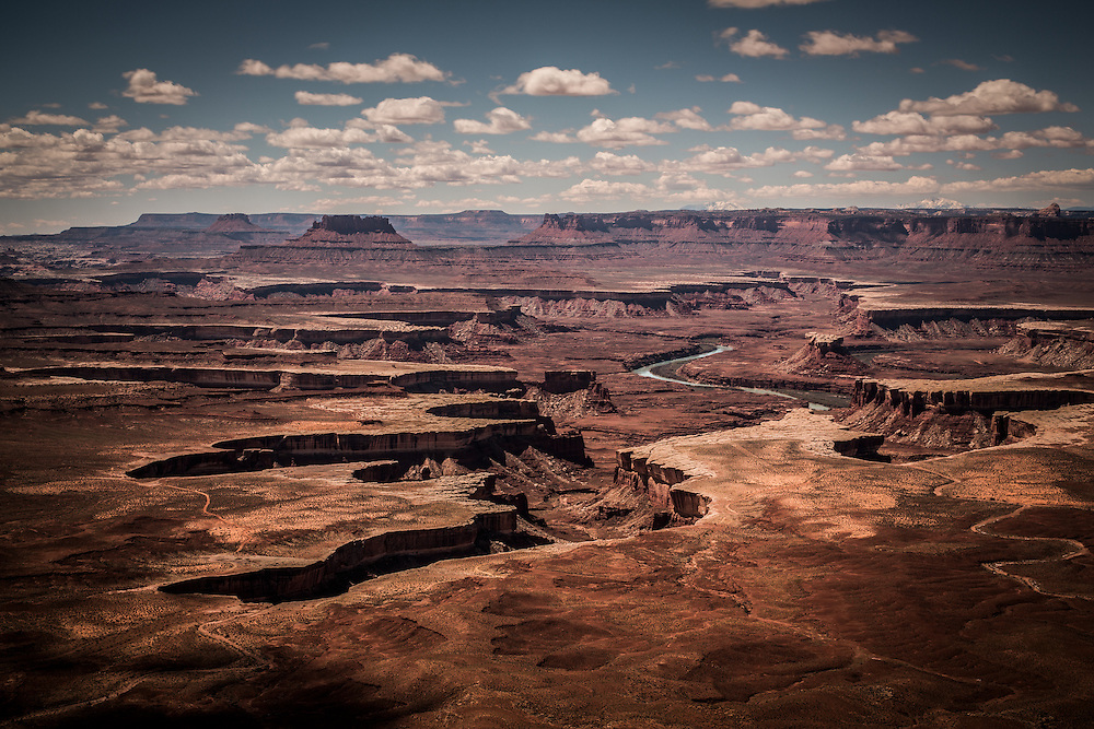 The view from Grand Point View at the Canyonlands National Park near Moab, Utah.