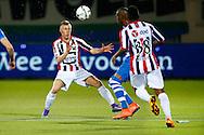 19-03-2016 VOETBAL:PEC ZWOLLE-WILLEM II:ZWOLLE<br /> Dico Koppers van Willem II in duel met  Kingsley Ehizibue van PEC Zwolle <br /> <br /> Foto: Geert van Erven