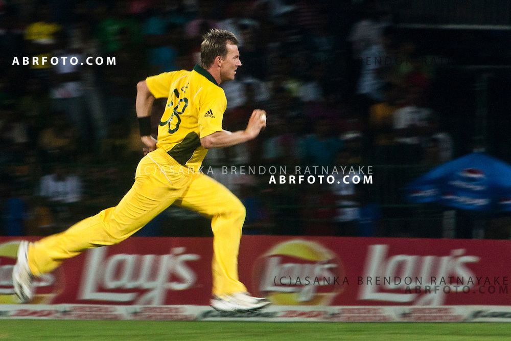 ©London News Pictures. 19/03/2011.Australian Brett Lee comes into bowl at R.Premadasa Stadium Colombo Sri Lanka
