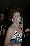 CLEO ROCOS, THREE'S A CROWD EVENTS LAUNCHES, THE MAYFAIR HOTEL BAR, STATTON ST. LONDON.<br />5 December 2006. ONE TIME USE ONLY - DO NOT ARCHIVE  © Copyright Photograph by Dafydd Jones 248 CLAPHAM PARK RD. LONDON SW90PZ.  Tel 020 7733 0108 www.dafjones.com