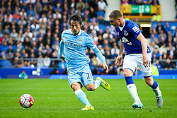 David Silva of Manchester City with Everton's James McCarthy  - Mandatory byline: Matt McNulty/JMP - 07966386802 - 23/08/2015 - FOOTBALL - Goodison Park -Everton,England - Everton v Manchester City - Barclays Premier League
