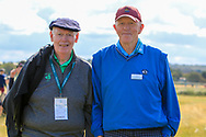 Jim McGovern (President GUI) and Iggy Ó Muircheartaigh (GUI board's chairman) at the 17th during the Foursomes at the Walker Cup, Royal Liverpool Golf CLub, Hoylake, Cheshire, England. 07/09/2019.<br /> Picture Thos Caffrey / Golffile.ie<br /> <br /> All photo usage must carry mandatory copyright credit (© Golffile | Thos Caffrey)