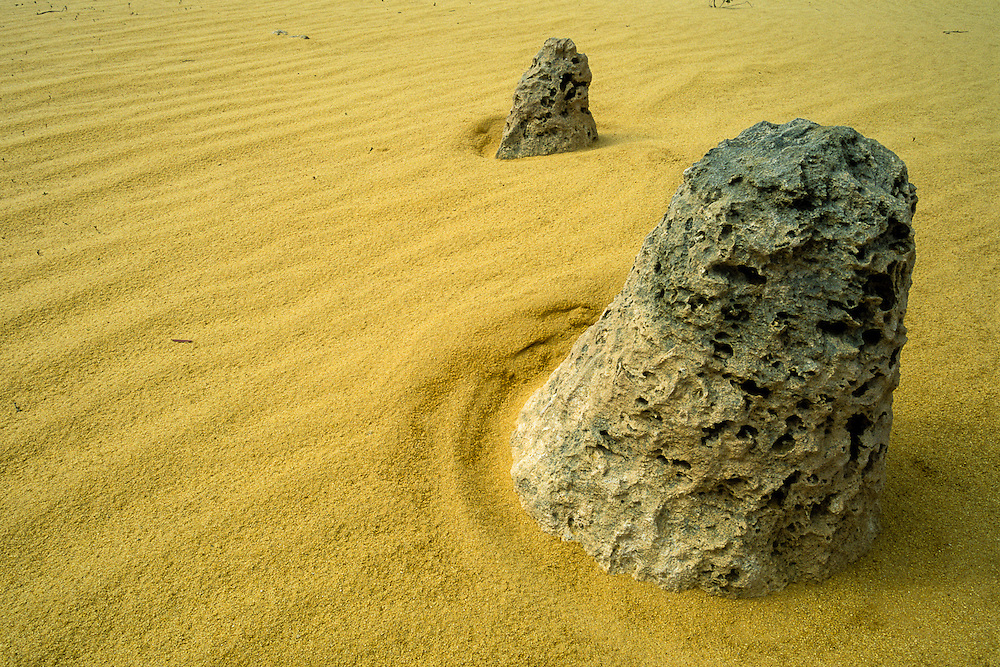 In the Pinnacle's Desert, in Nambung National Park, nature creates its own zen gardens