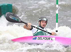 July 1, 2018 - Krakow, Poland - 2018 ICF Canoe Slalom World Cup 2 in Krakow. Day 2. On the picture: LUCIEN DELFOUR (Credit Image: © Damian Klamka via ZUMA Wire)