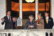 Viering 300 jaar Vrede van Utrecht  in de Domkerk.<br /> <br /> Celebrating 300 years in the Peace of Utrecht in the Dom Church.<br /> <br /> Op de foto:  Burgemeester Aleid Wolfsen, koningin Beatrix, prinses Maxima en prins Willem-Alexander <br /> <br /> Mayor Aleid Wolfsen, Queen Beatrix, Princess Maxima and Prince Willem-Alexander Koningin Beatrix, prinses Maxima en prins Willem-Alexander <br /> <br /> Queen Beatrix, Princess Maxima and Prince Willem-Alexander