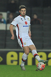 JOE WALSH MK DONS, MK Dons v Northampton Town, FA Cup Emirates FA Cup Third round Repay, Stadium MK, Tuesday 19th January 2016