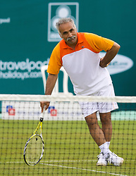 Liverpool, England - Friday, June 15, 2007: Mansour Bahrami in actions during the Legends Doubles on day four of the Liverpool International Tennis Tournament at Calderstones Park. For more information visit www.liverpooltennis.co.uk. (Pic by David Rawcliffe/Propaganda)