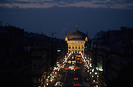 France. Paris. 9th district. elevated view. From the Hotel du Louvre guests enjoy a stunning view along the Avenue de l'Opera.the opera and the avenue of the opera