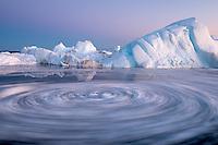 Eisstrudel in Grönland