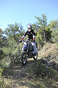 Garry Kepple riding his BMW HP2 during pit competition at 2010 Rawhyde Adventure Rider Challenge