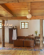 Old granary adopted for summer home in eastern Poland . Professional interior photography by Piotr Gesicki .