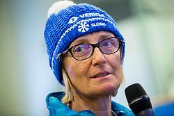 Darja Crnko, mother of Ilka Stuhec during press conference of Slovenian Alpine Ski team after the end of the season 2016/17, on March 22, 2017 in Telekom Slovenije, Ljubljana, Slovenia. Photo by Vid Ponikvar / Sportida