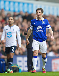 LONDON, ENGLAND - Sunday, February 9, 2014: Everton's Leighton Baines in action against Tottenham Hotspur during the Premiership match at White Hart Lane. (Pic by David Rawcliffe/Propaganda)