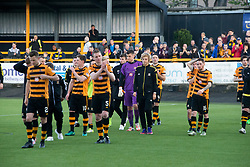 Alloa players at the end. Athletic 4 v 3 Brechin City (Brechin won 5-4 on penalties), Ladbrokes Championship Play-Off 2nd Leg at Alloa Athletic's home ground, Recreation Park, Alloa.