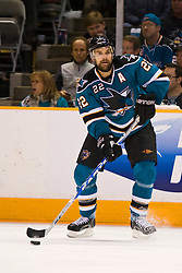 April 29, 2010; San Jose, CA, USA;  San Jose Sharks defenseman Dan Boyle (22) against the Detroit Red Wings during the second period of game one of the western conference semifinals of the 2010 Stanley Cup Playoffs at HP Pavilion. San Jose defeated Detroit 4-3. Mandatory Credit: Jason O. Watson / US PRESSWIRE