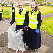 04.04.2017              <br /> Ard Scoil Mhuire, Corbally were out in force doing their bit for TLC3. Pictured are, Joanne Cross and Emma Ryan. Picture: Michael Andrews