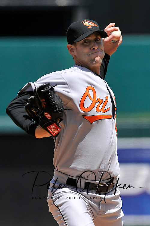 May 11, 2008 - Kansas City, MO..Pitcher Brian Burres #56 of the Baltimore Orioles during a game against the Kansas City Royals at Kauffman Stadium in Kansas City, Missouri on May 11, 2008.  ..The Royals defeated the Orioles 4-0. .Photo by Peter G. Aiken/CSM                                           ....