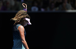 MELBOUREN, Jan. 19, 2019  Osaka Naomi of Japan celebrates.    during the women's singles 3rd round match between Osaka Naomi of Japan and Hsieh Su-Wei of Chinese Taipei at the Australian Open in Melbourne, Australia, Jan. 19, 2019. (Credit Image: © Bai Xuefei/Xinhua via ZUMA Wire)