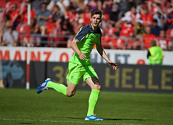 MAINZ, GERMANY - Sunday, August 7, 2016: Liverpool's Sam Hart in action against FSV Mainz 05 during a pre-season friendly match at the Opel Arena. (Pic by David Rawcliffe/Propaganda)