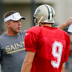 8/14/2013 9:36:06 AM -- New Orleans, LA  -- Saints rebirth with the return of Head Coach Sean Payton with quarterback Drew Brees --    Photo by Derick E. Hingle , Gannett