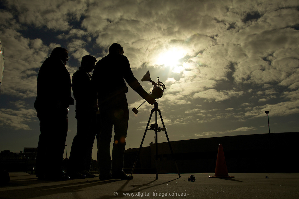 Scientists at the Australian Synchrotron observing the transit of Venus.