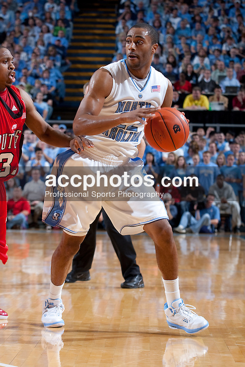 28 December 2008: North Carolina Tar Heels guard Wayne Ellington (22) during a 75-97 win over the Rutgers Scarlet Knights at the Dean Smith Center in Chapel Hill, NC.