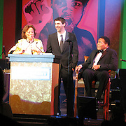 Lonnie Ali, Michael Phelps and Muhammad Ali..Muhammad Ali Celebrityvibe Fight Night XV..A Benefit to raise funds to fight against Parkinson disease..Marriott Hotel and Resort..Phoenix, AZ, USA..Saturday, March 28, 2009..Photo By Celebrityvibe.com.To license this image please call (212) 410 5354; or Email: celebrityvibe@gmail.com ;.website: www.celebrityvibe.com