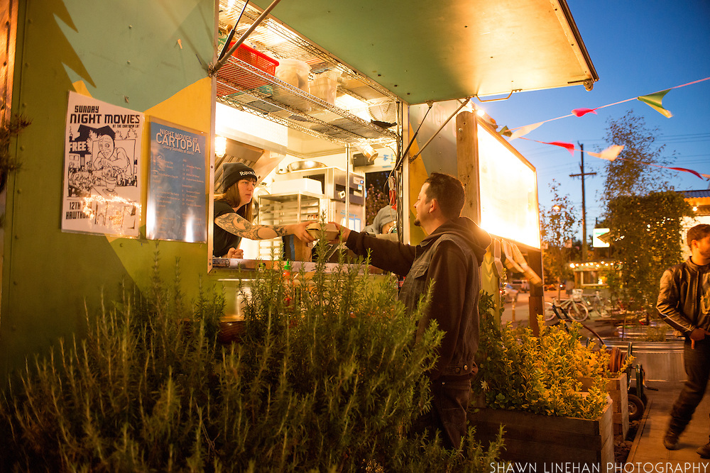 The Potato Champion food cart is one of the oldest carts in Portland.