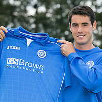 Striker Brian Graham pictured this morning after completing his season long loan deal from Dundee United to St Johnstone...28.08.14<br /> Picture by Graeme Hart.<br /> Copyright Perthshire Picture Agency<br /> Tel: 01738 623350  Mobile: 07990 594431