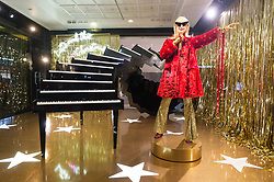 © Licensed to London News Pictures. 18/10/2018. London, UK. Launch of the Selfridges department store Christmas festive window display with a 'Selfridges Rocks Santa' theme. It is the first department store in the world to unveil Christmas windows. Photo credit: Ray Tang/LNP