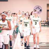1st year guard, Madeleine Tell (15) of the Regina Cougars during the Women's Basketball Home Game on Fri Feb 01 at Centre for Kinesiology,Health and Sport. Credit: Arthur Ward/Arthur Images