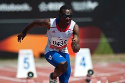 DAMBAKATE Bacou, FRA, 100m, T13, 2013 IPC Athletics World Championships, Lyon, France
