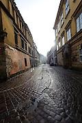 Kanonicza street in winter, Krakow, Poland