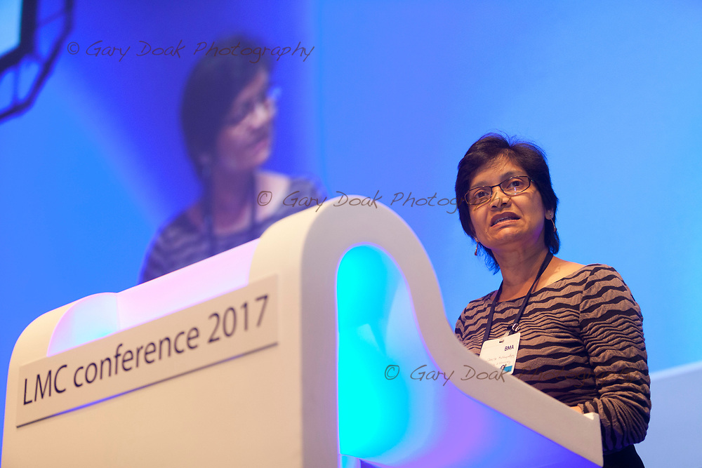 Samita Mukhopadhyay<br /> BMA LMC's Conference<br /> EICC, Edinburgh<br /> <br /> 18th May 2017<br /> <br /> Picture by Gary Doak