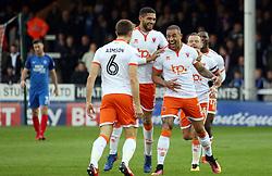 Kyle Vassell of Blackpool celebrates scoring his sides opening goal - Mandatory by-line: Joe Dent/JMP - 18/11/2017 - FOOTBALL - ABAX Stadium - Peterborough, England - Peterborough United v Blackpool - Sky Bet League One
