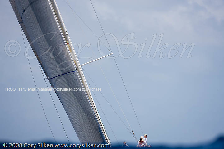 Stay Calm sailing race 3 at Antigua Sailing Week.