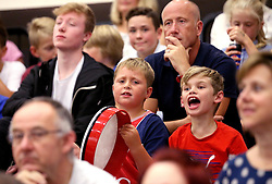 Bristol Flyers fans watch the action during the preseason friendly against USA Select ahead of the BBL Season - Mandatory by-line: Robbie Stephenson/JMP - 08/09/2016 - BASKETBALL - SGS Arena - Bristol, England - Bristol Flyers v USA Select - Preseason Friendly