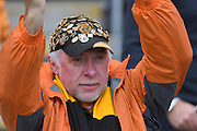 Hull City fan during the Premier League match between Hull City and Chelsea at the KCOM Stadium, Kingston upon Hull, England on 1 October 2016. Photo by Ian Lyall.
