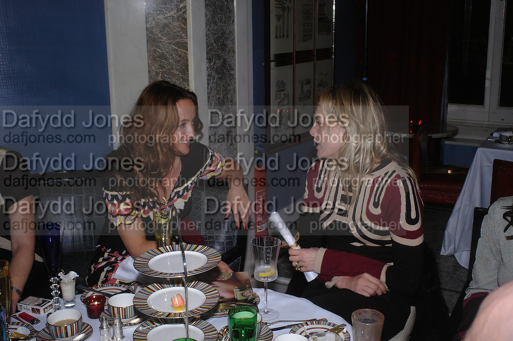 Alice Temperley and Cali Rand, 'Pret-a-Portea'M.A.C. launches High Tea collection with British fashion designers. Berkeley Hotel. 17 January 2004. ONE TIME USE ONLY - DO NOT ARCHIVE  © Copyright Photograph by Dafydd Jones 66 Stockwell Park Rd. London SW9 0DA Tel 020 7733 0108 www.dafjones.com