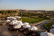 Egypt. Cairo - Al Azhar Park in the old islamic city. project of Aga Khan foundation. cafe restaurant . +