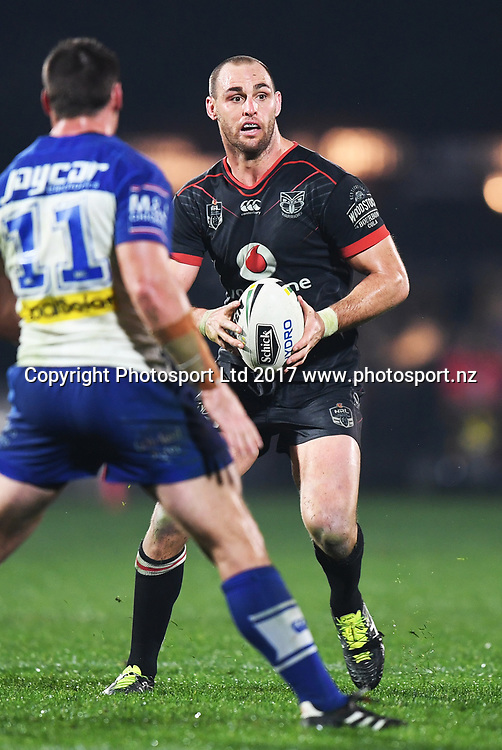 Simon Mannering.<br /> Vodafone Warriors v  Canterbury Bulldogs. NRL Rugby League. Mt Smart Stadium, Auckland, New Zealand. Friday 23 June 2017 &copy; Copyright Photo: Andrew Cornaga / www.Photosport.nz