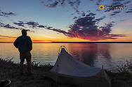 Self portrait at campsite along Fort Peck Reservoir near Fort Peck, Montana, USA MR