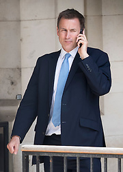 © Licensed to London News Pictures. 05/07/2016. London, UK. Health secretary JEREMY HUNT MP is seen in Westminster after junior doctors voted to reject a new contract. . Photo credit: Peter Macdiarmid/LNP